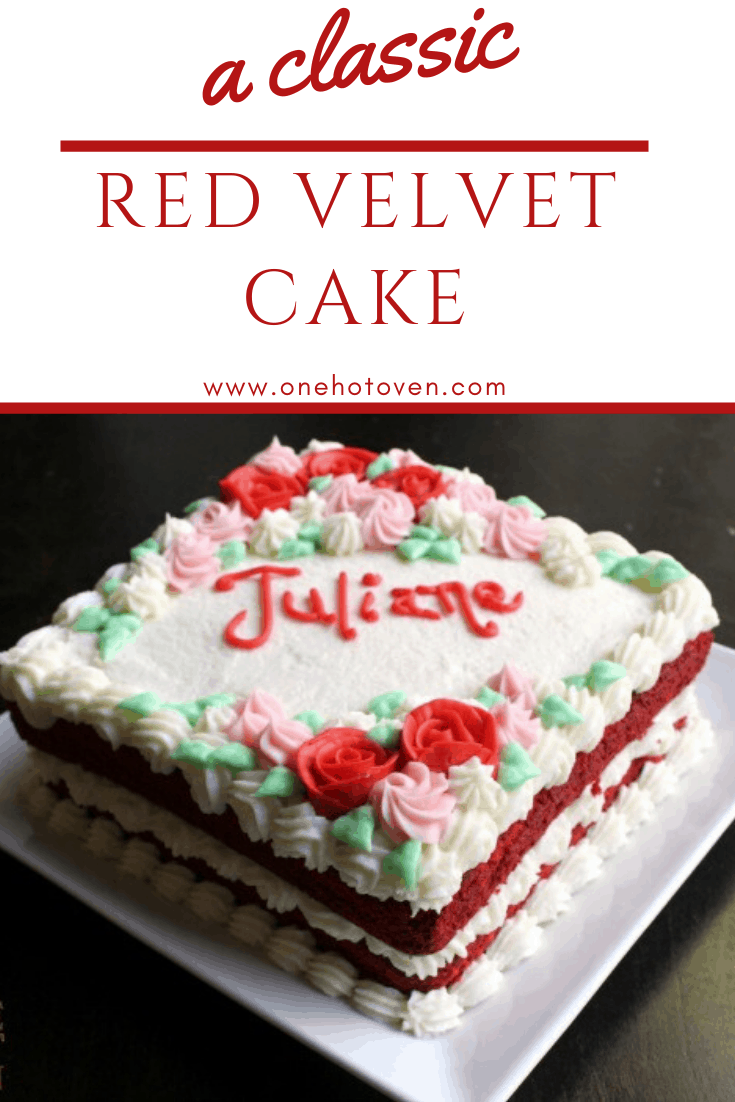 Brilliant Red Velvet Cake With Butter Roux Frosting One Hot Oven Funny Birthday Cards Online Alyptdamsfinfo