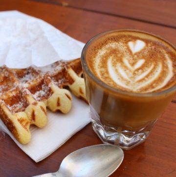 Cortado-and-waffle
