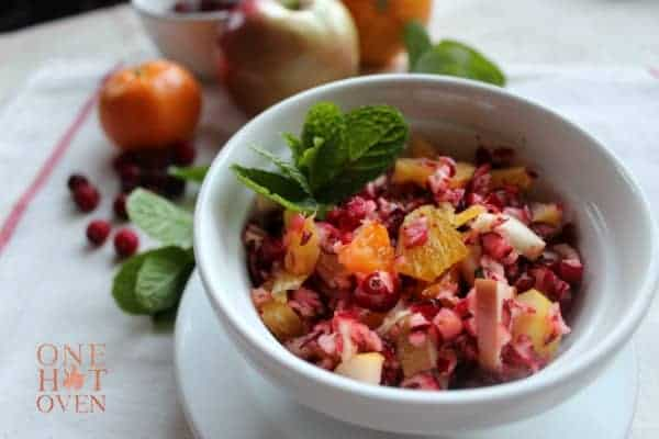 Cranberry-winter-fruit-salad-with-honey-orange-dressing