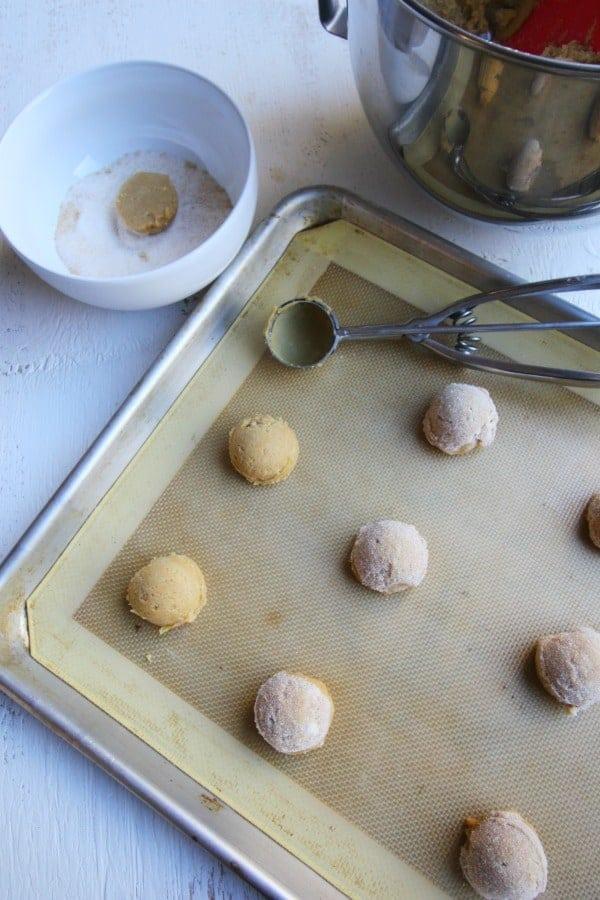 Ginger cookies on baking sheet