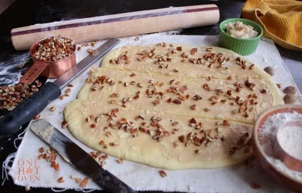 Cut strips of bread dough