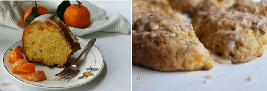 Mandarin Orange Cake and Scones
