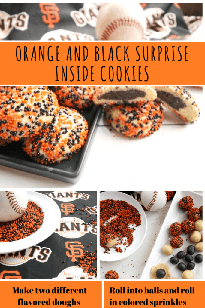 Orange and Black Surprise Inside Cookies
