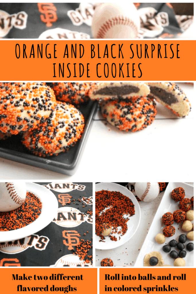 Orange and Black Surprise Inside Cookies