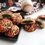 Black and Orange Surprise Inside Cookies