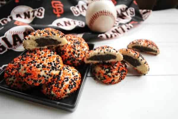 Black and Orange Surprise Inside Cookies for the SF Giants