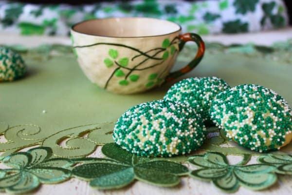 sprinkles cookies and tea.