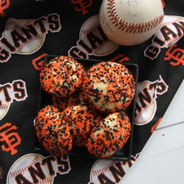Sprinkle Cookies on San Francisco Giants fabric