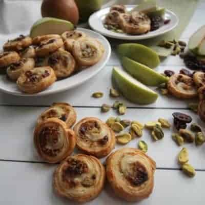 Pears, Asiago, Pistachios and Cranberries in Golden Brown Puff Pastry
