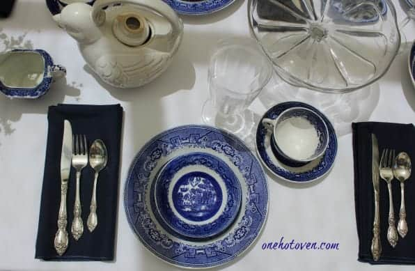 Willow Ware Table Setting