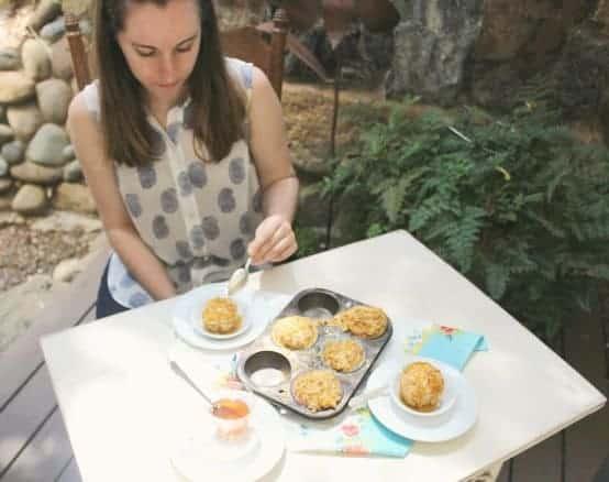 Juliane having dessert