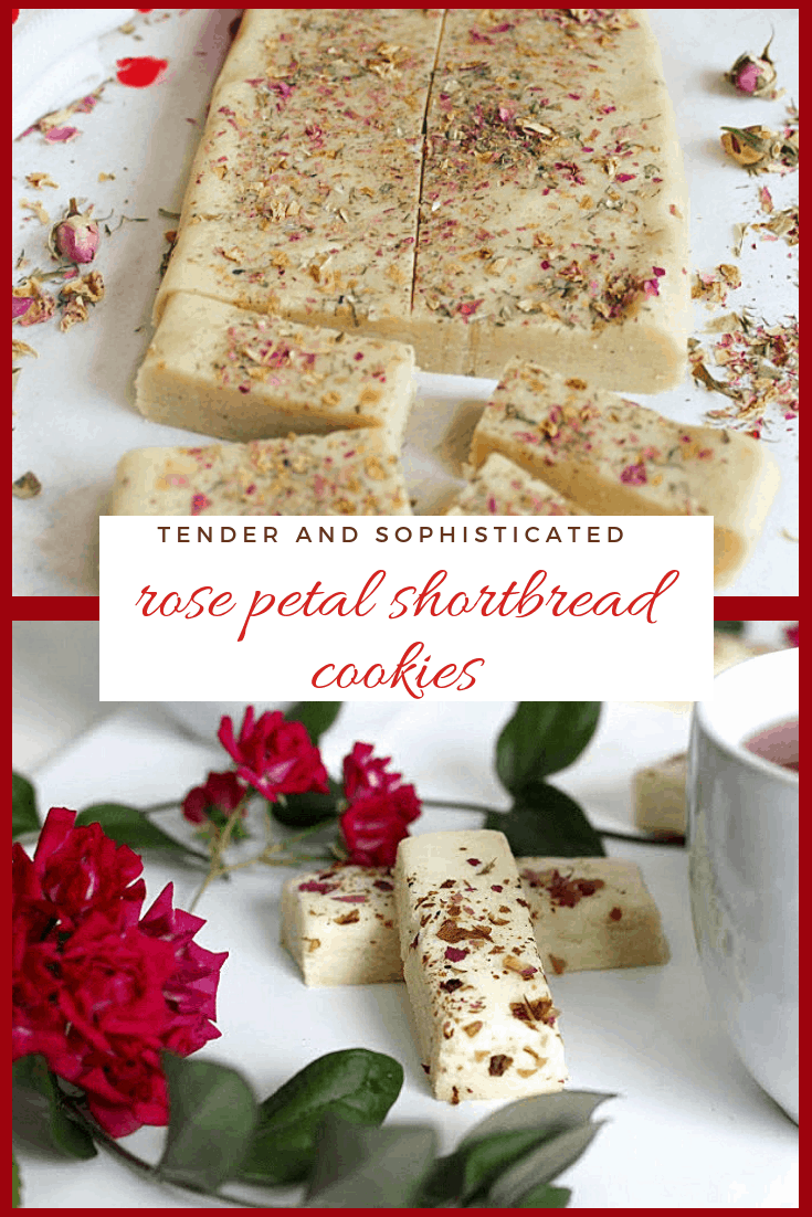 Rose petal shortbreads