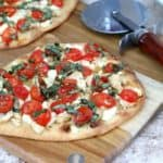 chicken garlic caprese flatbreads