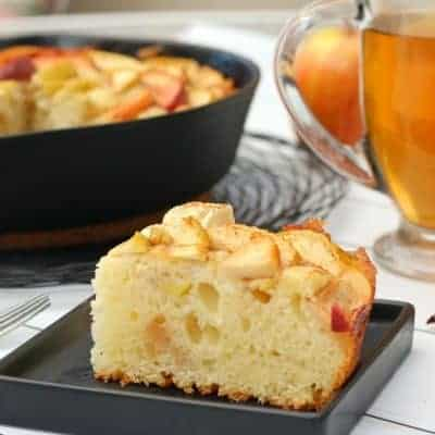 Maple Apple Skillet Cake
