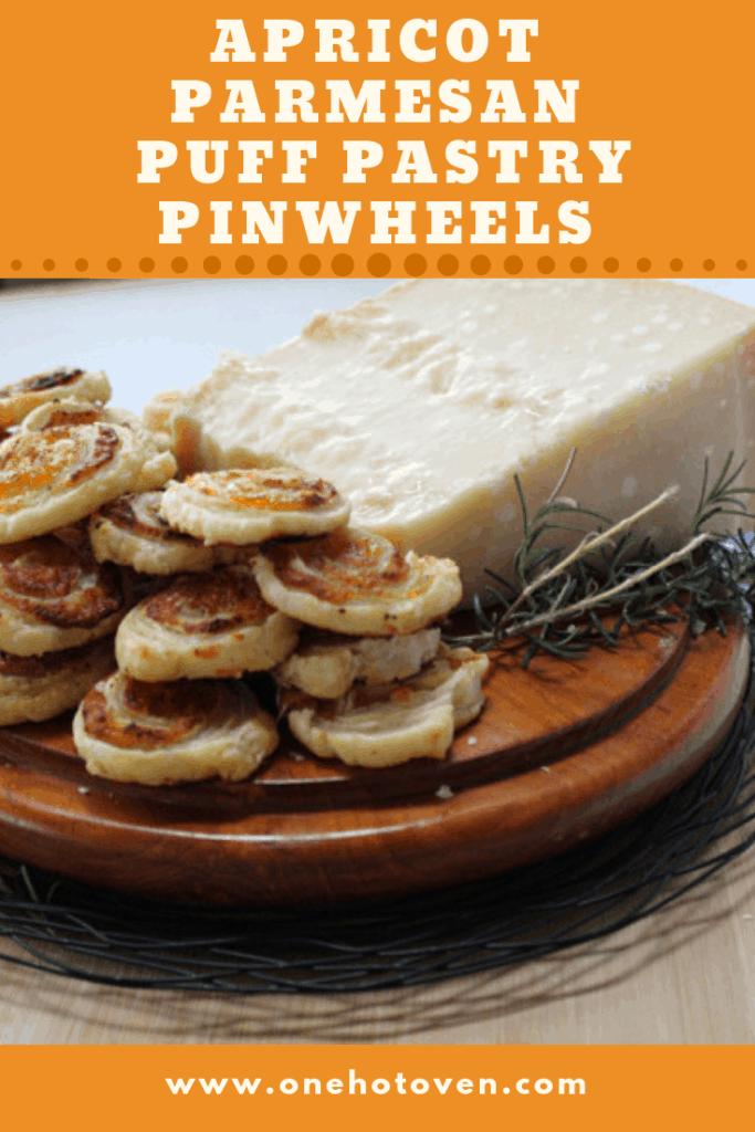 Apricot Parmesan Puff Pastry Pinwheels
