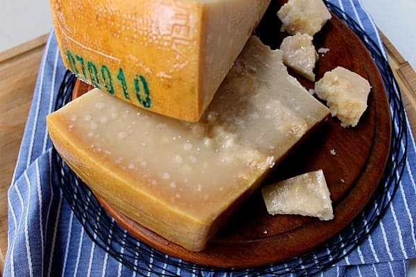 wedges of parmigiano-reggiano cheese