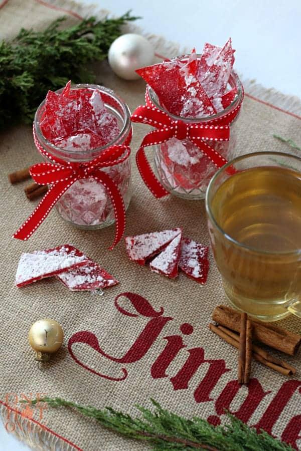 Cinnamon Rock Candy and Tea
