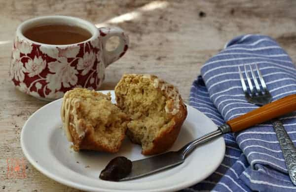 Maple Walnut Muffins with Tea