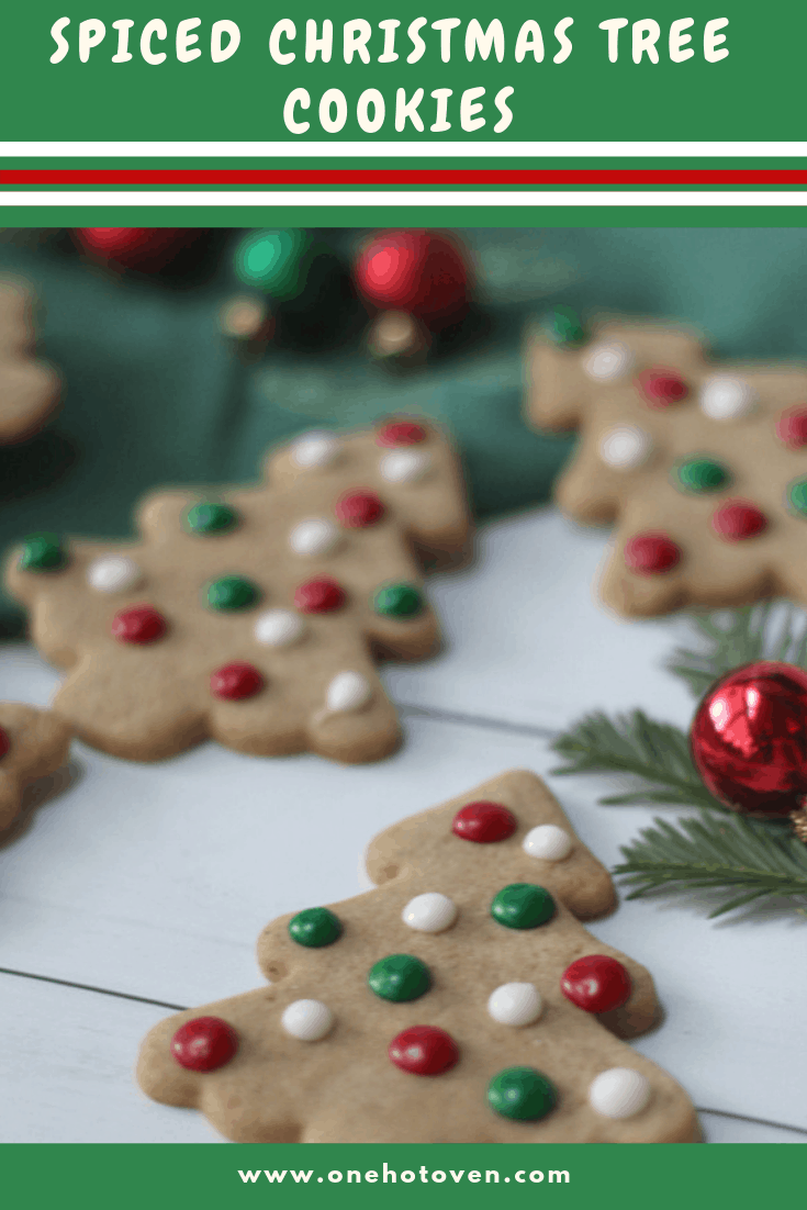 Pinterest Pin for Decorated Christmas Tree Cookies