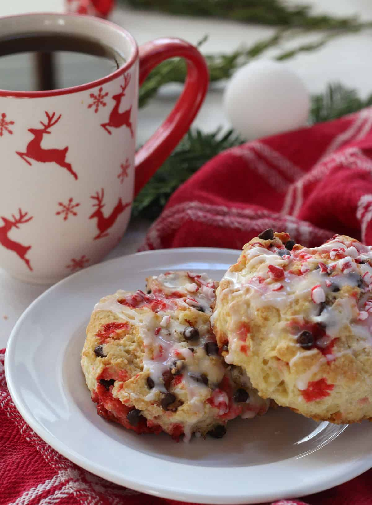 Peppermint Scones and a cup of tea