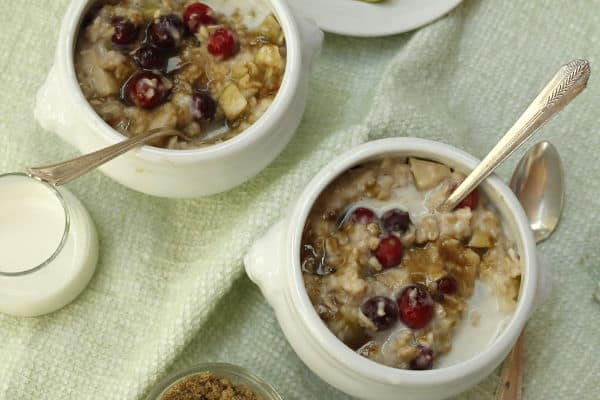 cooked oatmeal