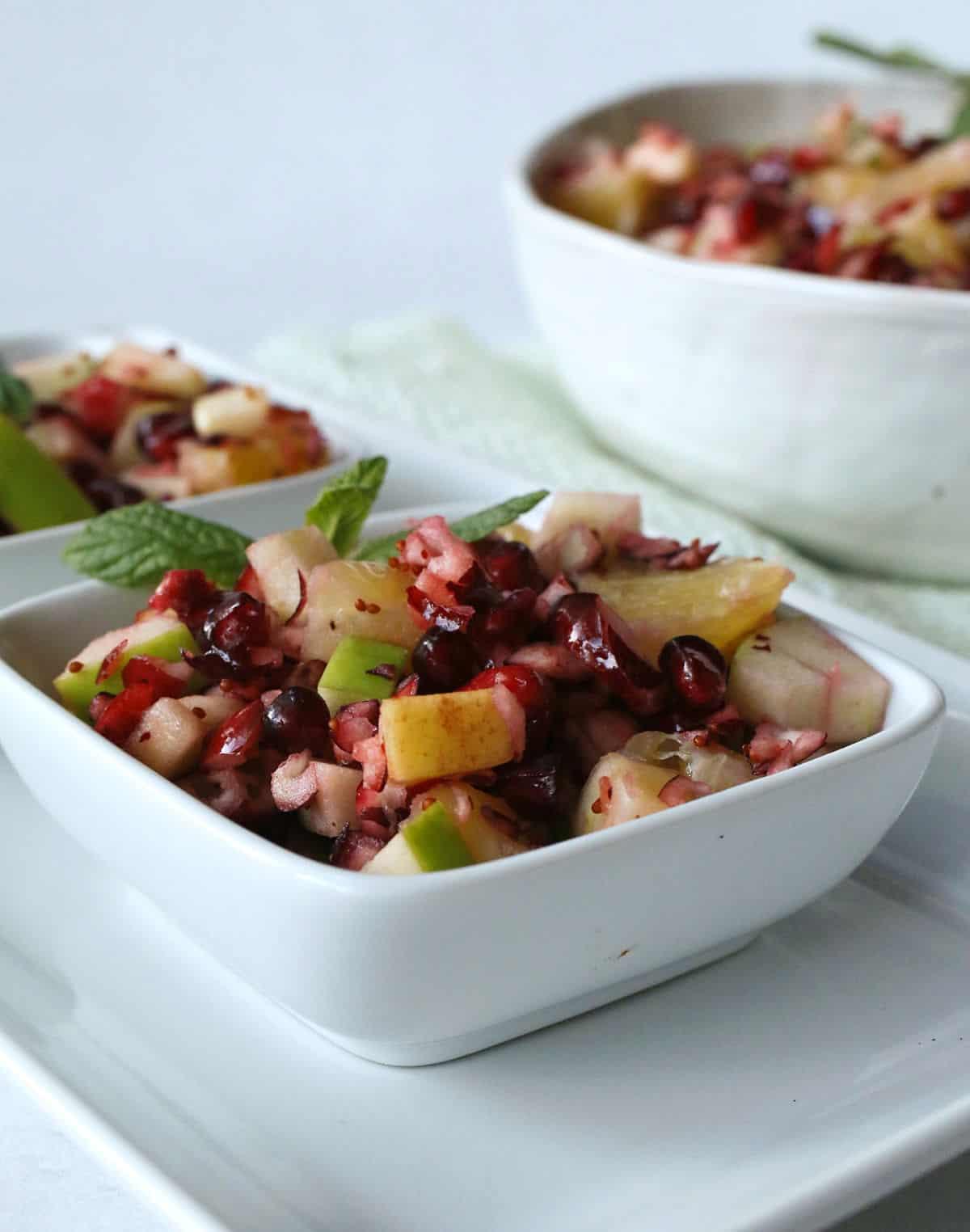 bowls for cranberry salad