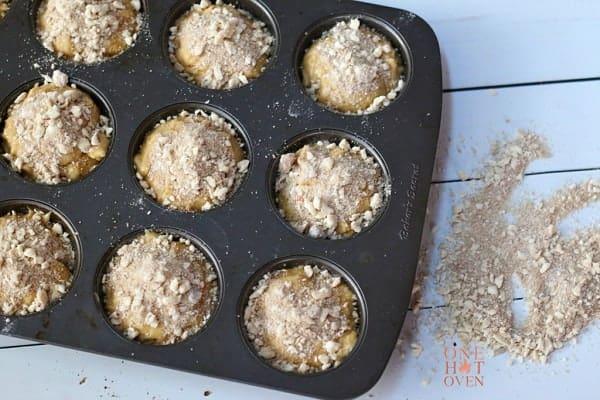 Unbaked Maple Walnut Muffins