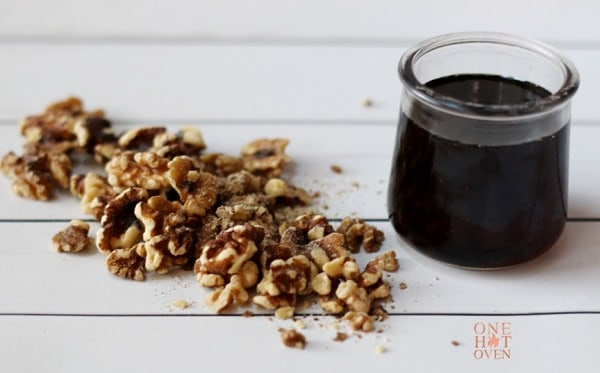 walnuts and maple syrup