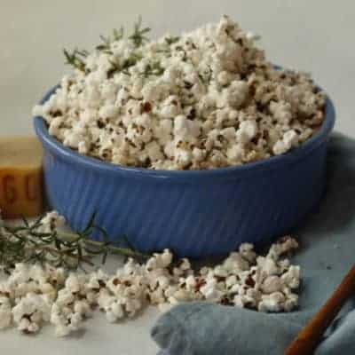 Rosemary & Asiago Cheese Popcorn