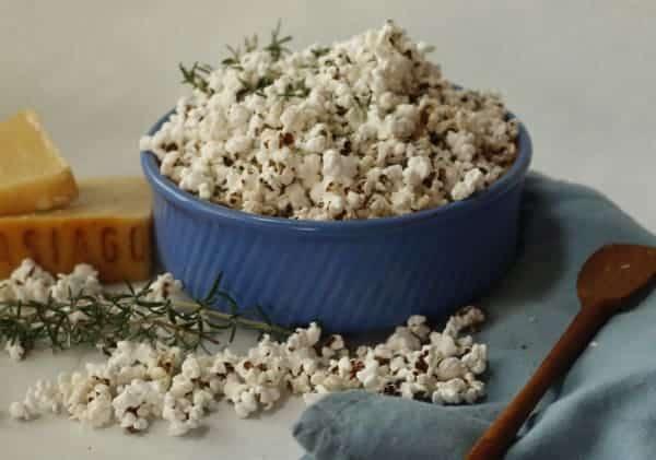 Asiago Cheese Popcorn