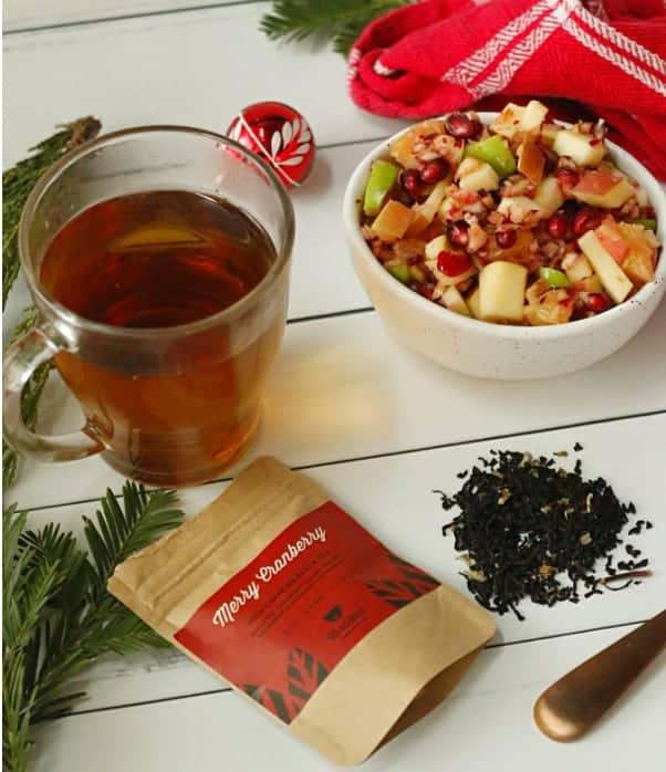 Cranberry Salad and Tea