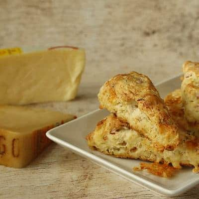 Ham and Asiago Cheese Herb Scones