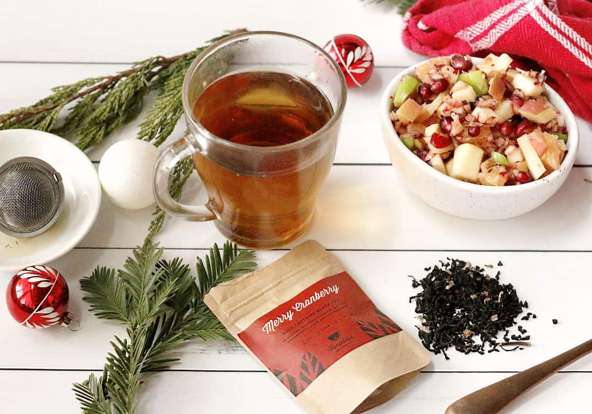 Christmas Tea and Cranberry Apple Salad