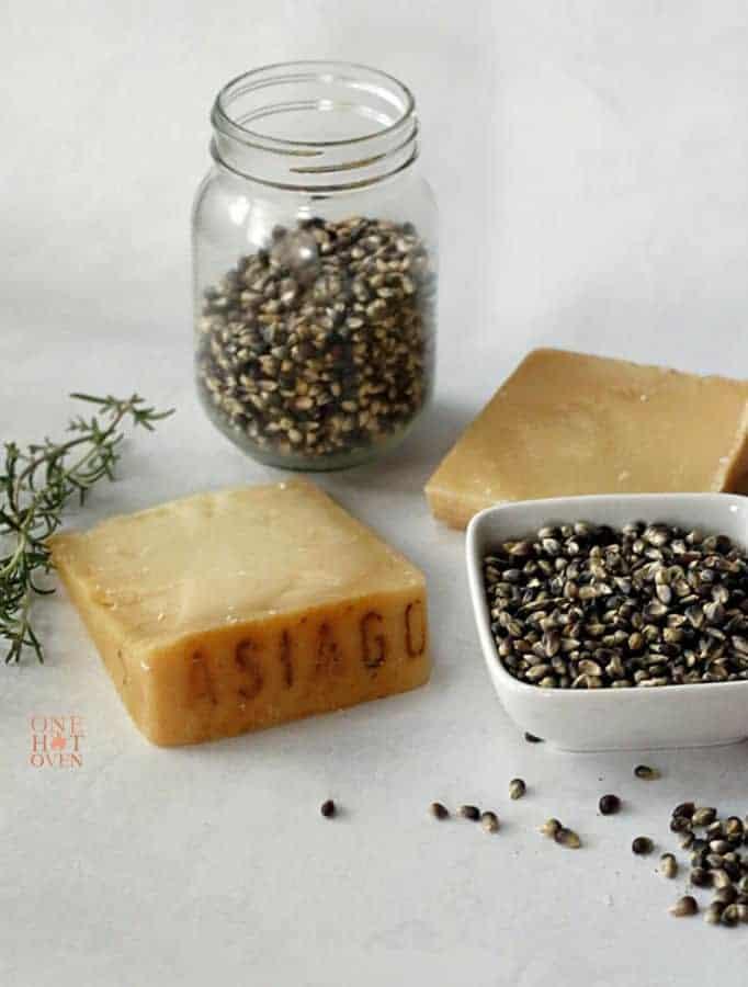 Black jewel popcorn and Asiago Cheese
