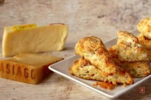 Ham and Asiago Cheese Scones