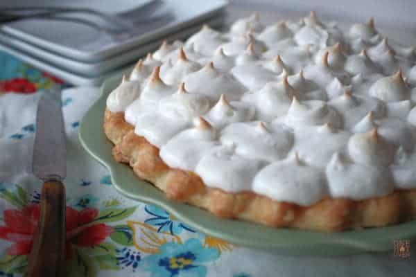 Meringue topped butterscotch pie