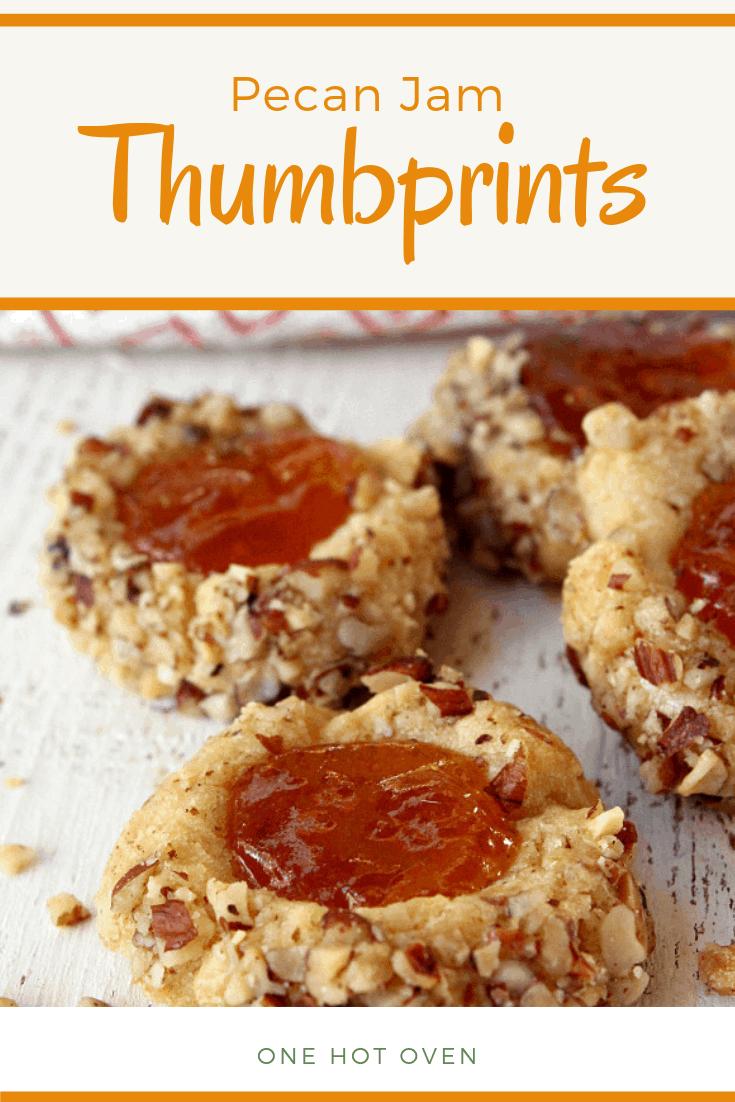 Pecan Jam Thumbprint Cookies