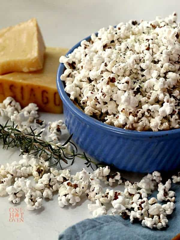 Savory Asiago Cheese and Popcorn