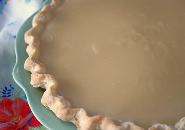 butterscotch custard in a pie shell