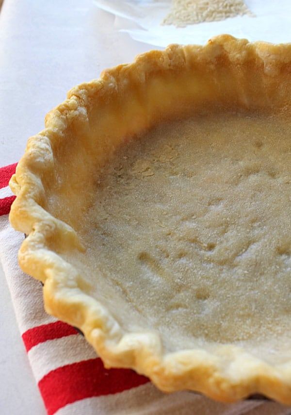 This is a partially blind-baked pie shell