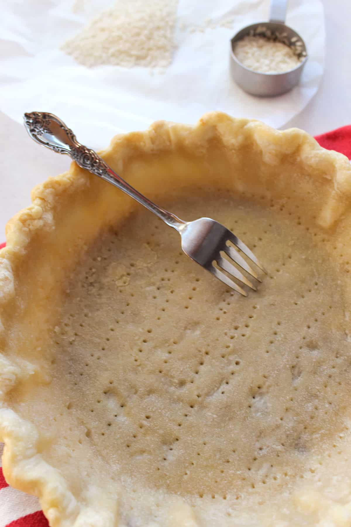 docking a pie crust before baking