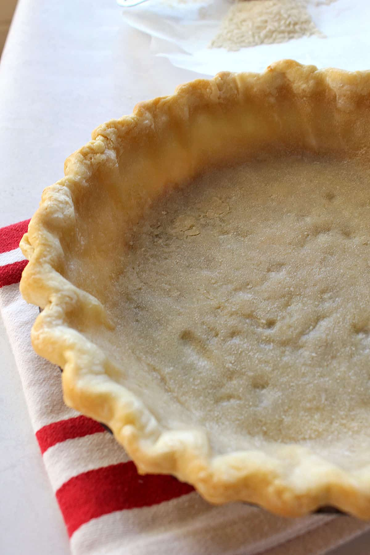 partially baked pie crust