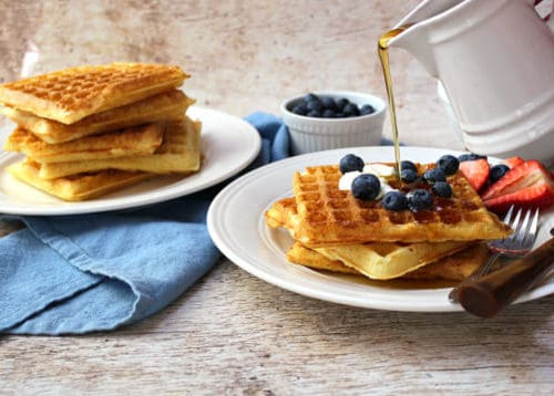 Overnight Raised Waffles - Crispy & Golden Brown | One Hot Oven
