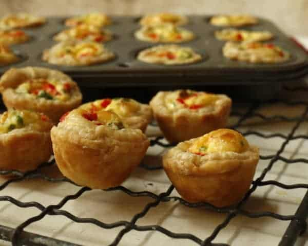 baked mini Swiss Cheese Quiches