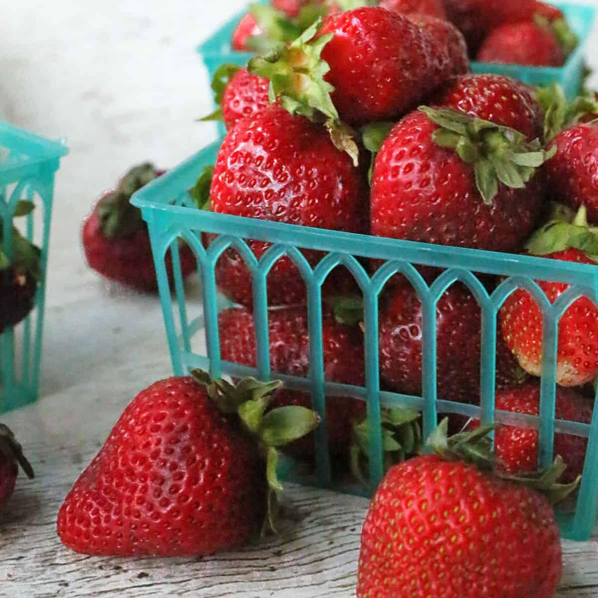 Basket of strawberries.