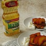 Honey lime grilled peaches and pound cake