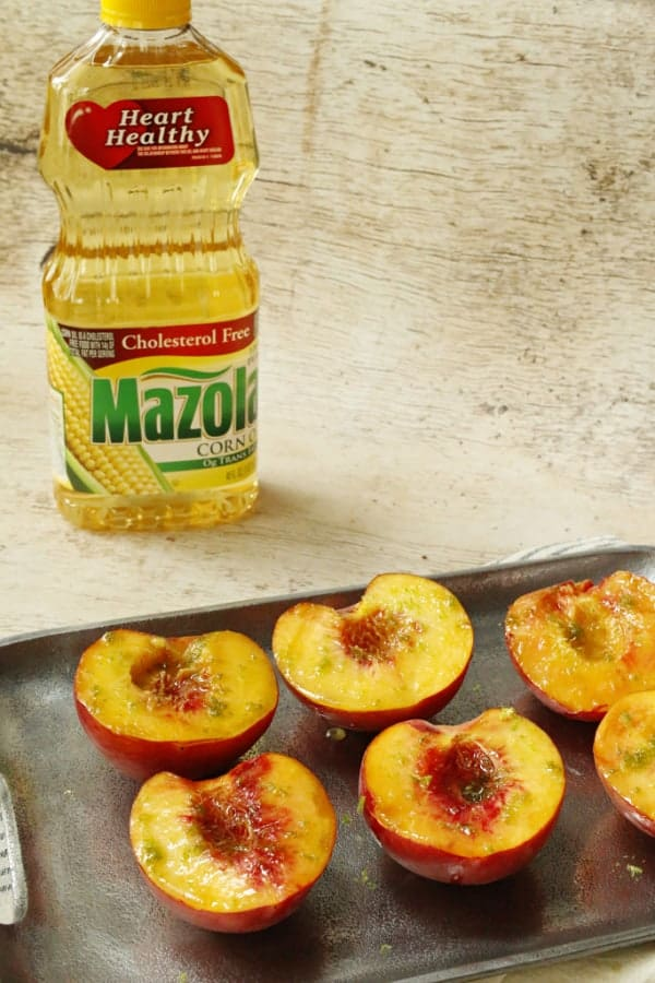 marinating peaches