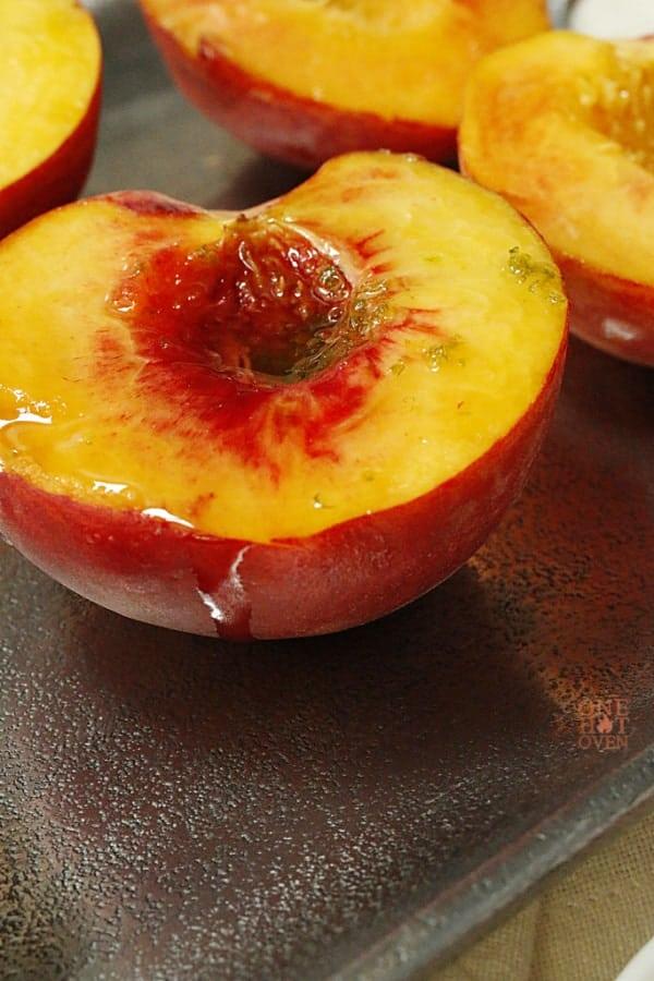 marinated peach