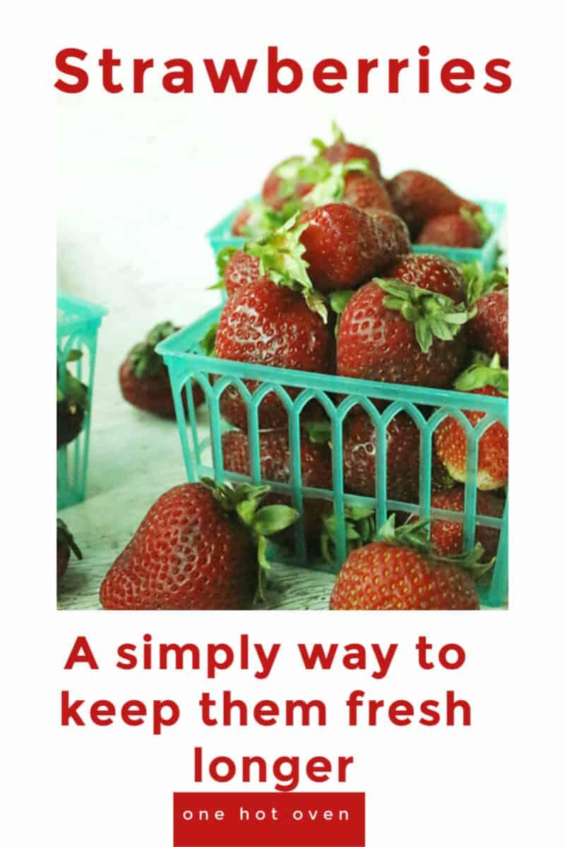 A basket of fresh strawberries.