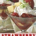 strawberry shortcakes in glasses.